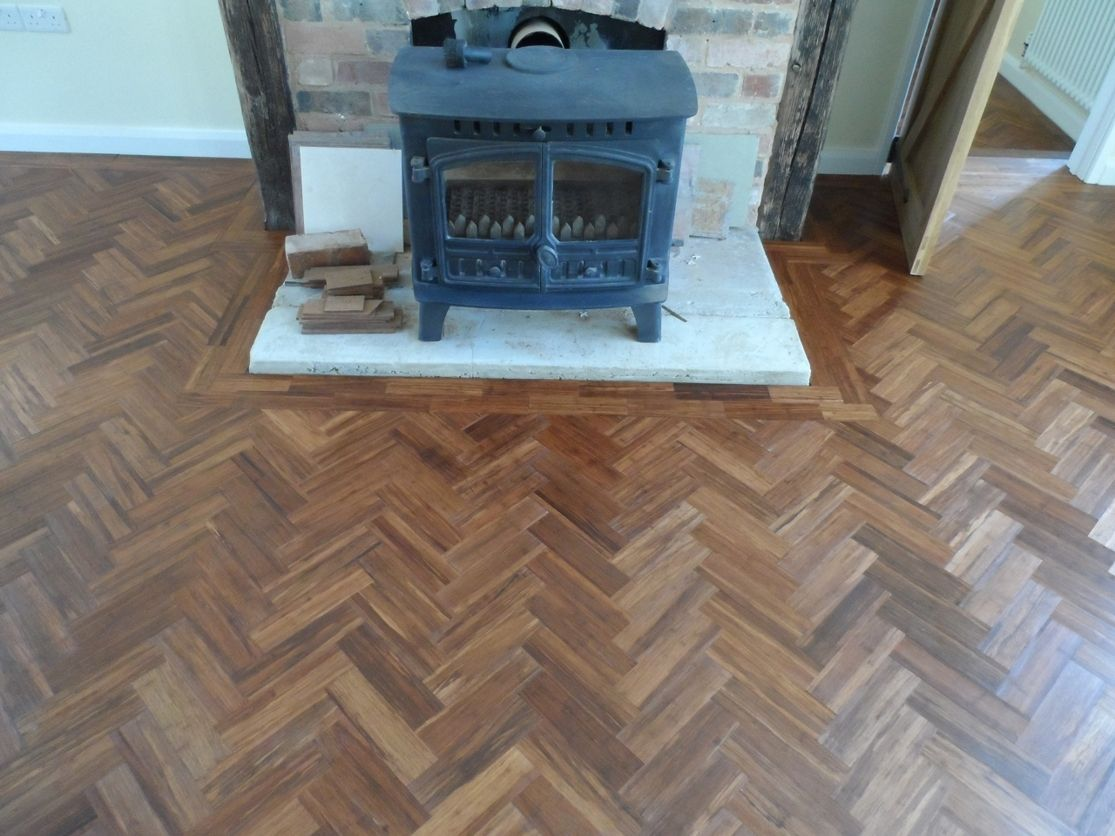 S400 Carbonised Bamboo Parquet Block Unfinished The Solid Wood Flooring Company