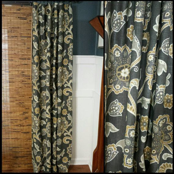 Braemore Ankara Slub Noir Lined Curtain by TheHandmadeHamper