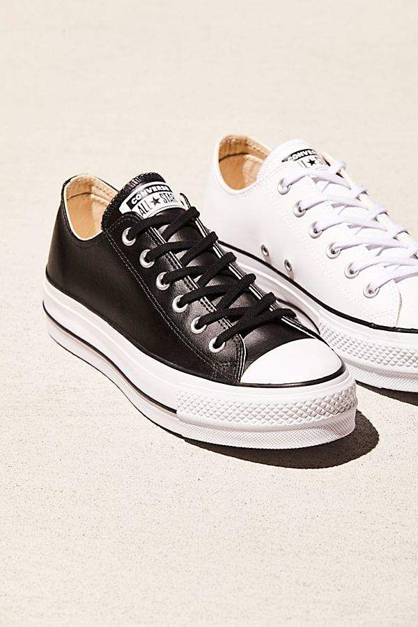 Platform Low Top Sneakers Converse White Nike Shoes Converse Style
