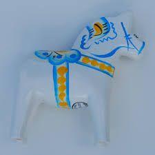 Image result for vintage white dala horse