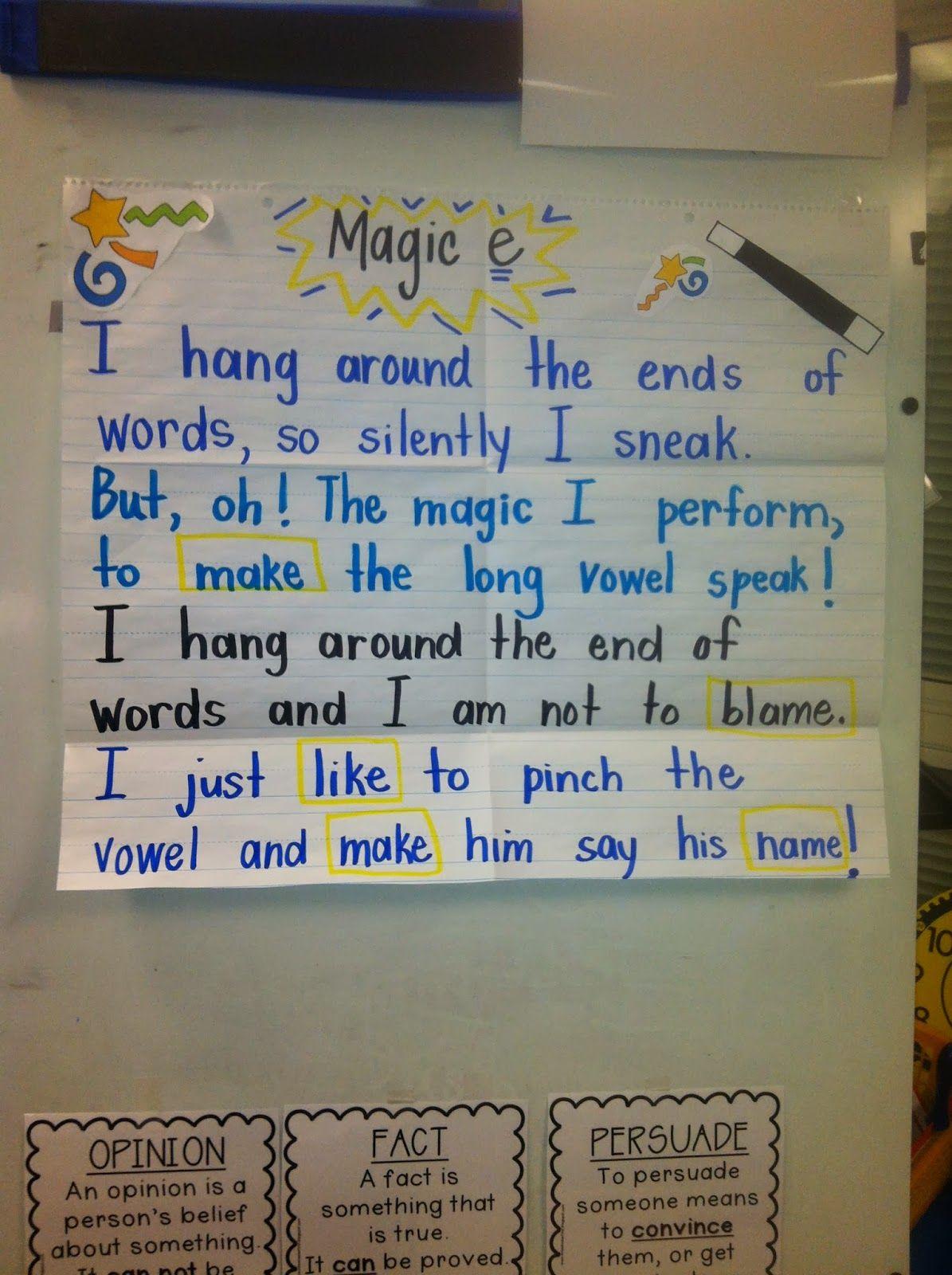 Silent E Magic Poem