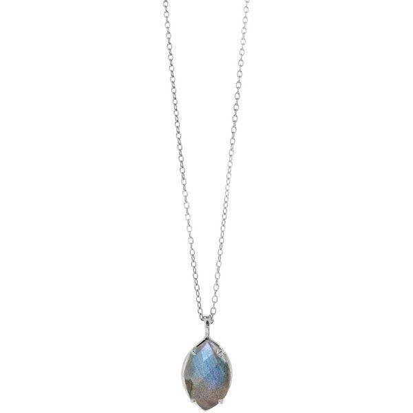 Dinny Hall Sheba Sterling Silver Labradorite Pendant Necklace, Silver (320 AUD) ❤ liked on Polyvore featuring jewelry, necklaces, pendants & necklaces, sterling silver jewellery, sterling silver necklaces, sterling silver jewelry and silver jewelry
