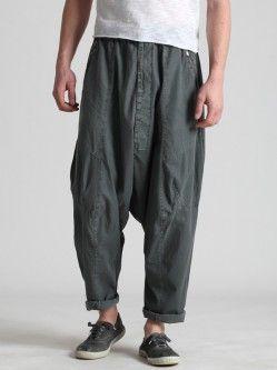 Mens fashion low crotch elasticated waist band trouser sXtWXsQw