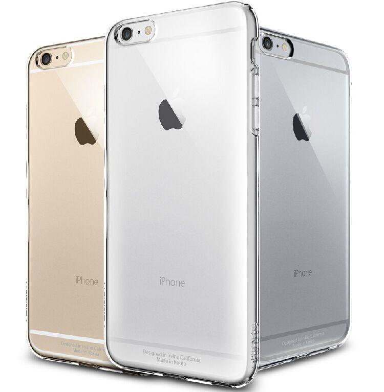 Kisscase per iphone 6 6s plus clear case di cristallo di modo dura di plastica del telefono per apple iphone6 6s plus 4.7 & 5.5 trasparente