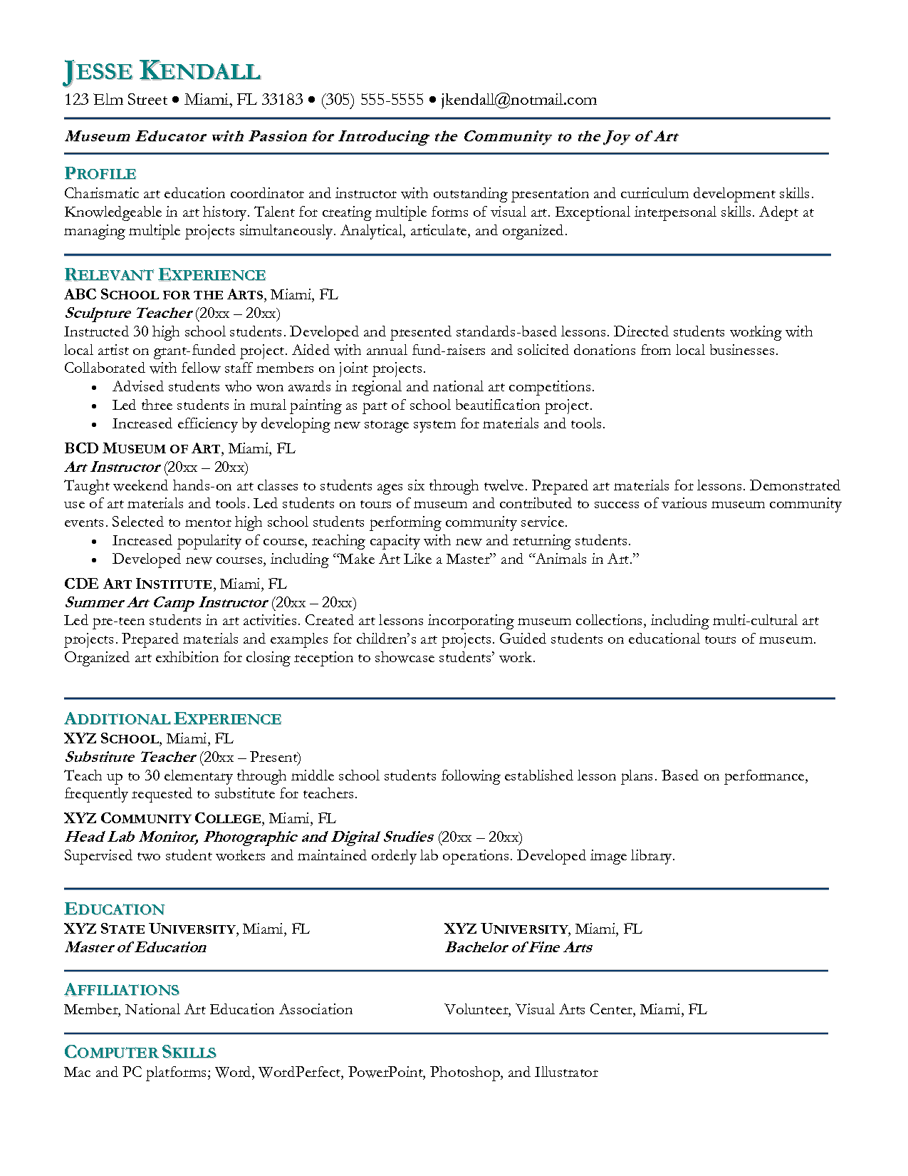cover letter for teacher application resume example sample