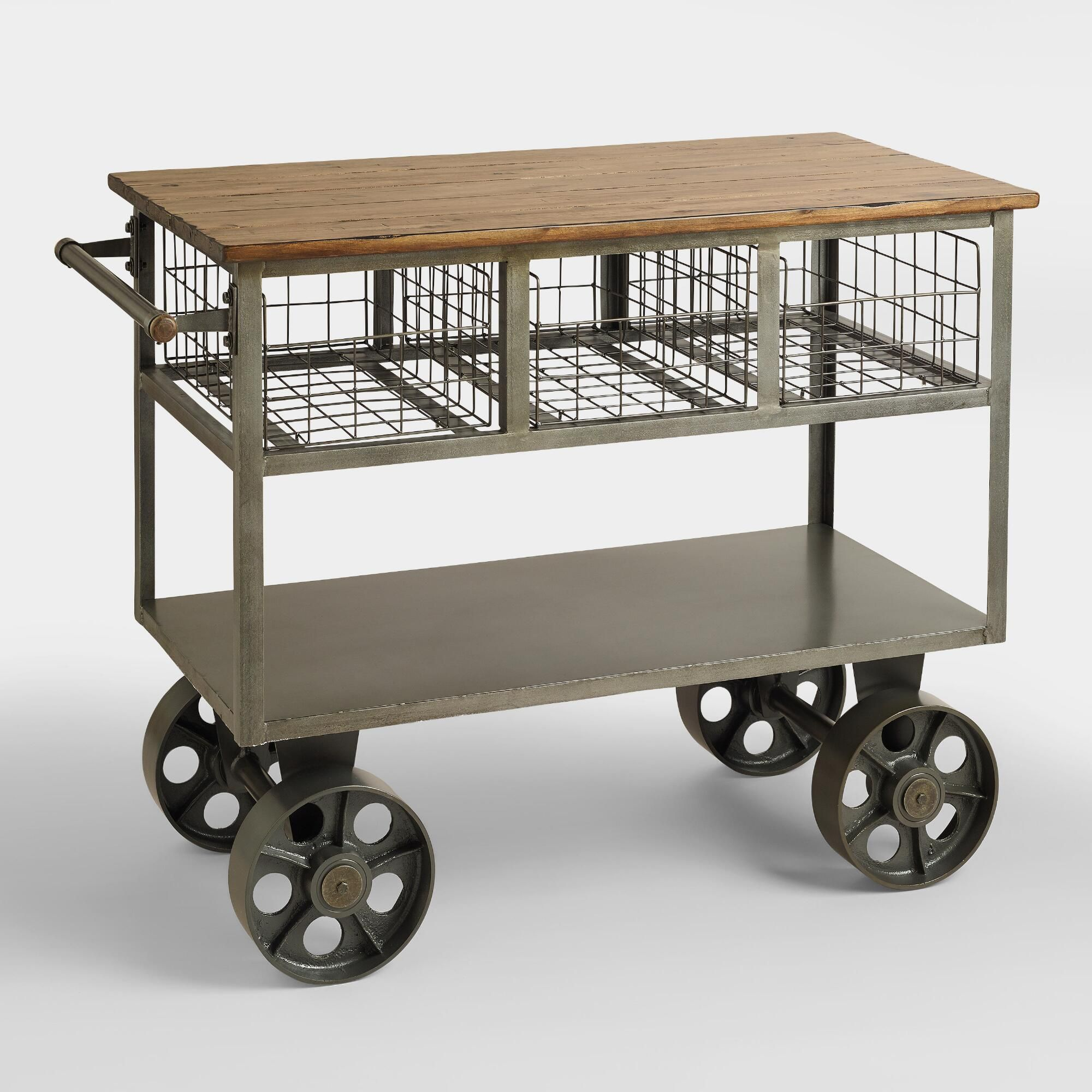 Bryant Mobile Kitchen Cart - Metal by World Market ...
