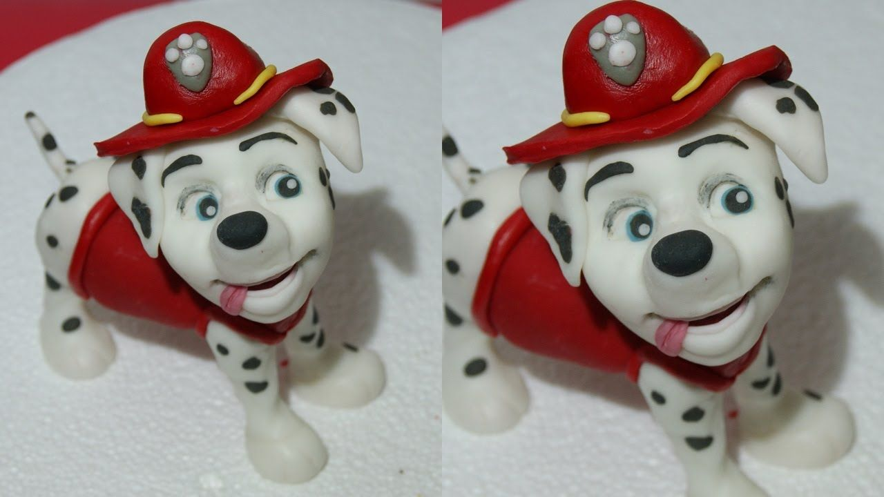 Kids Toys Action Figure: How To Make Marshall Paw Patrol Tutorial Cake Topper