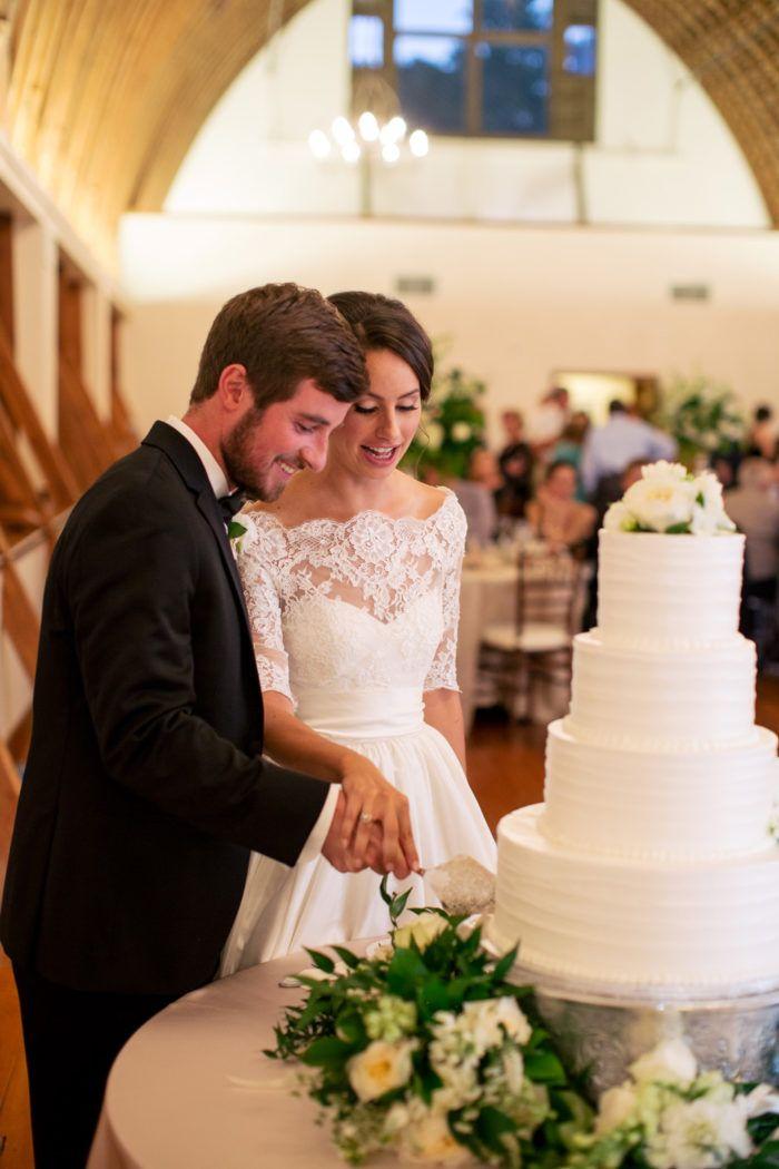 Iconic Wedding Cake Cutting Moment