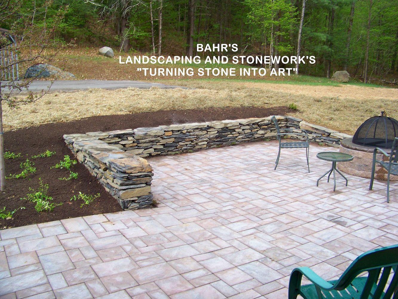 Stonework Firepit And Paver Patio, Concrete Masonry, Landscape, Outdoor  Living