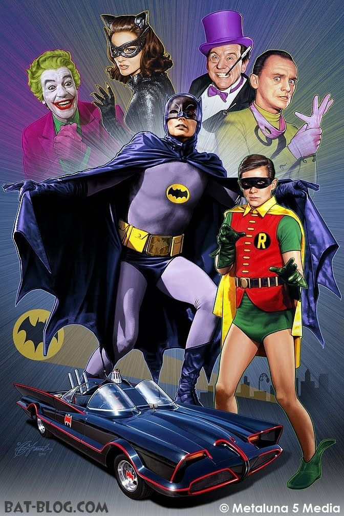 Batman /& Robin Original Vintage TV Large Poster Art Print in multiple sizes