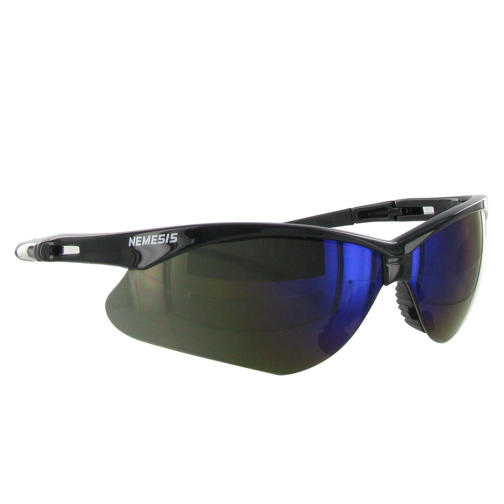 Jackson Nemesis Safety Glasses w/ Blue Mirror Lens