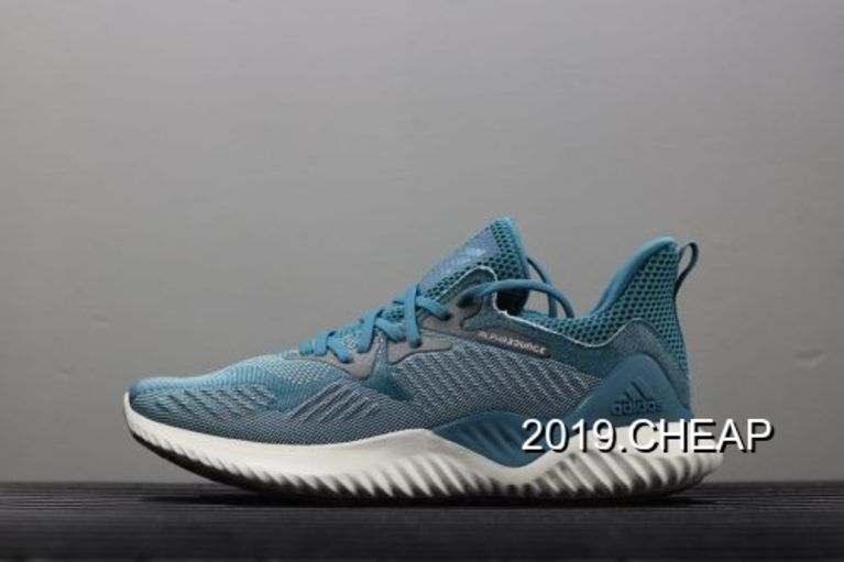 Adidas AlphaBounce más allá de zapatos zapatos de copuon real Teal / Ash Grey