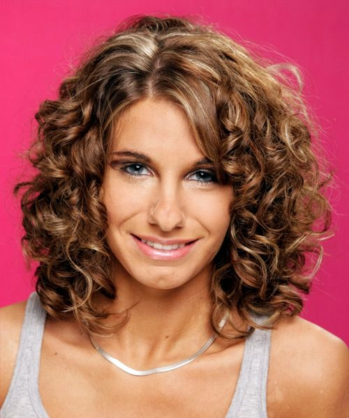 medium curly formal hairstyle