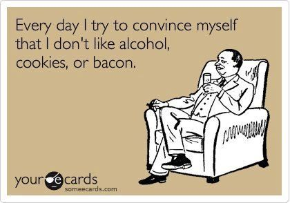 I can do without the bacon but alcohol & cookies...can't lie!!