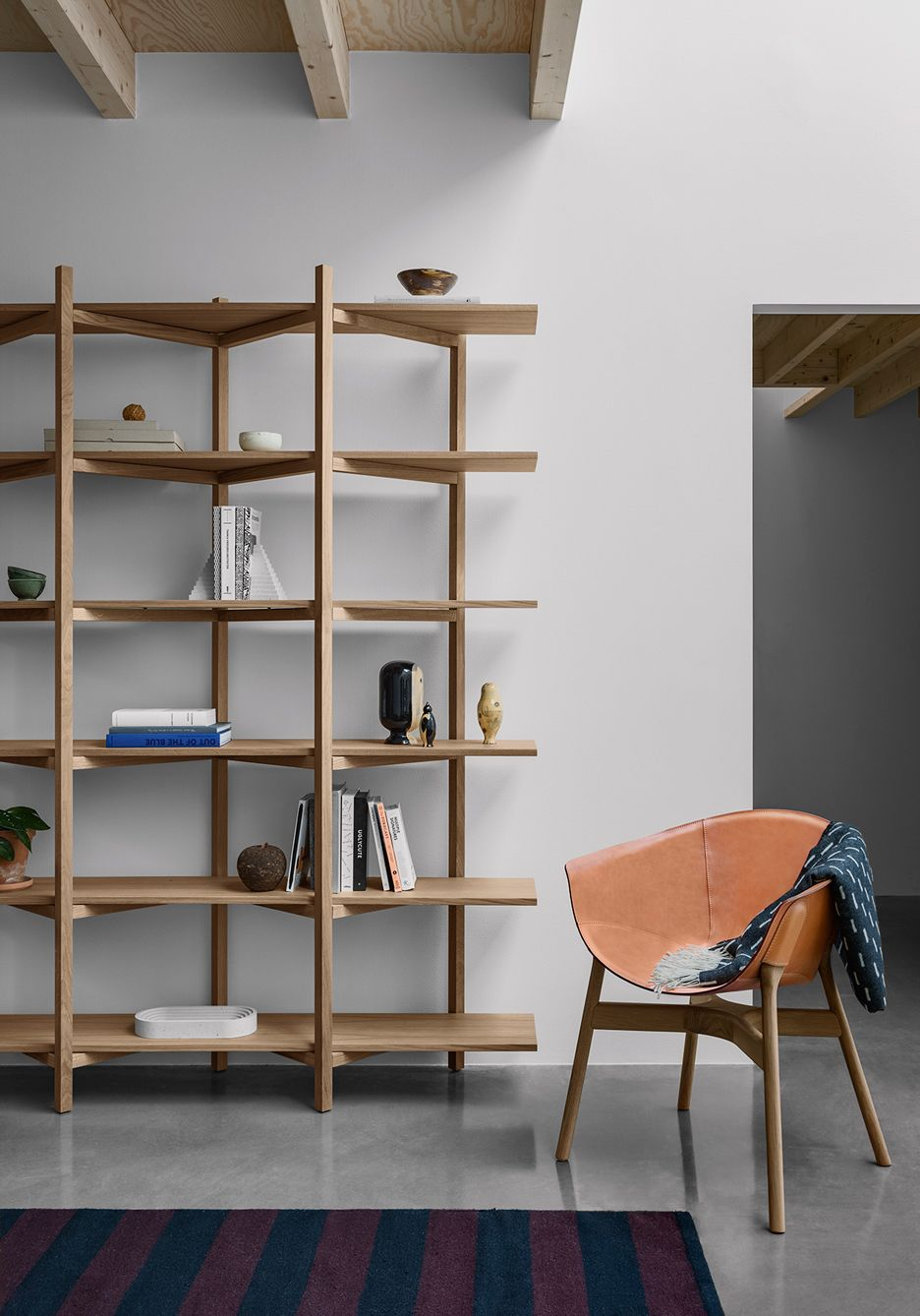 Design Zig Zag Bookshelf hem to present latest customisable furniture range in milan zig milan
