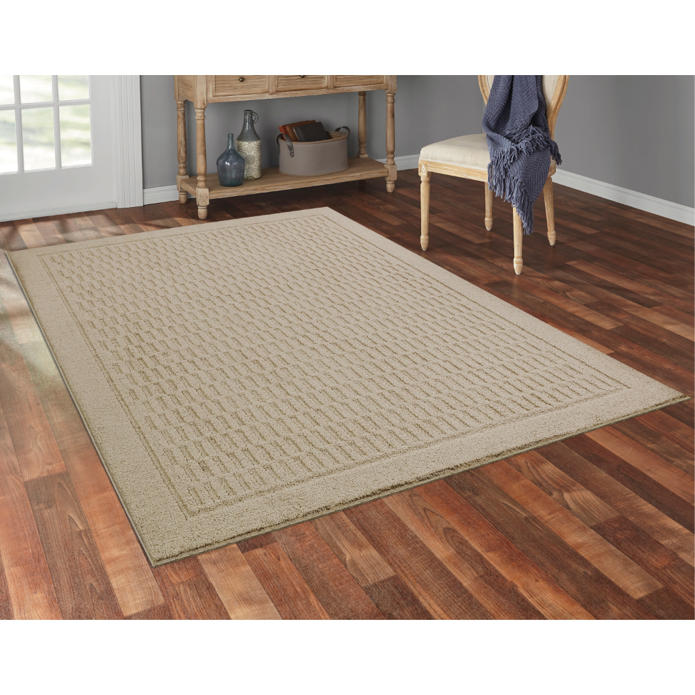 Mainstays Dylan Polyester Solid Pattern 3 Piece 5 X 7 Area Rug