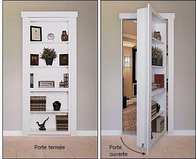 Composants pour porte dérobée encastrée - Quincaillerie biblio - comment changer une porte