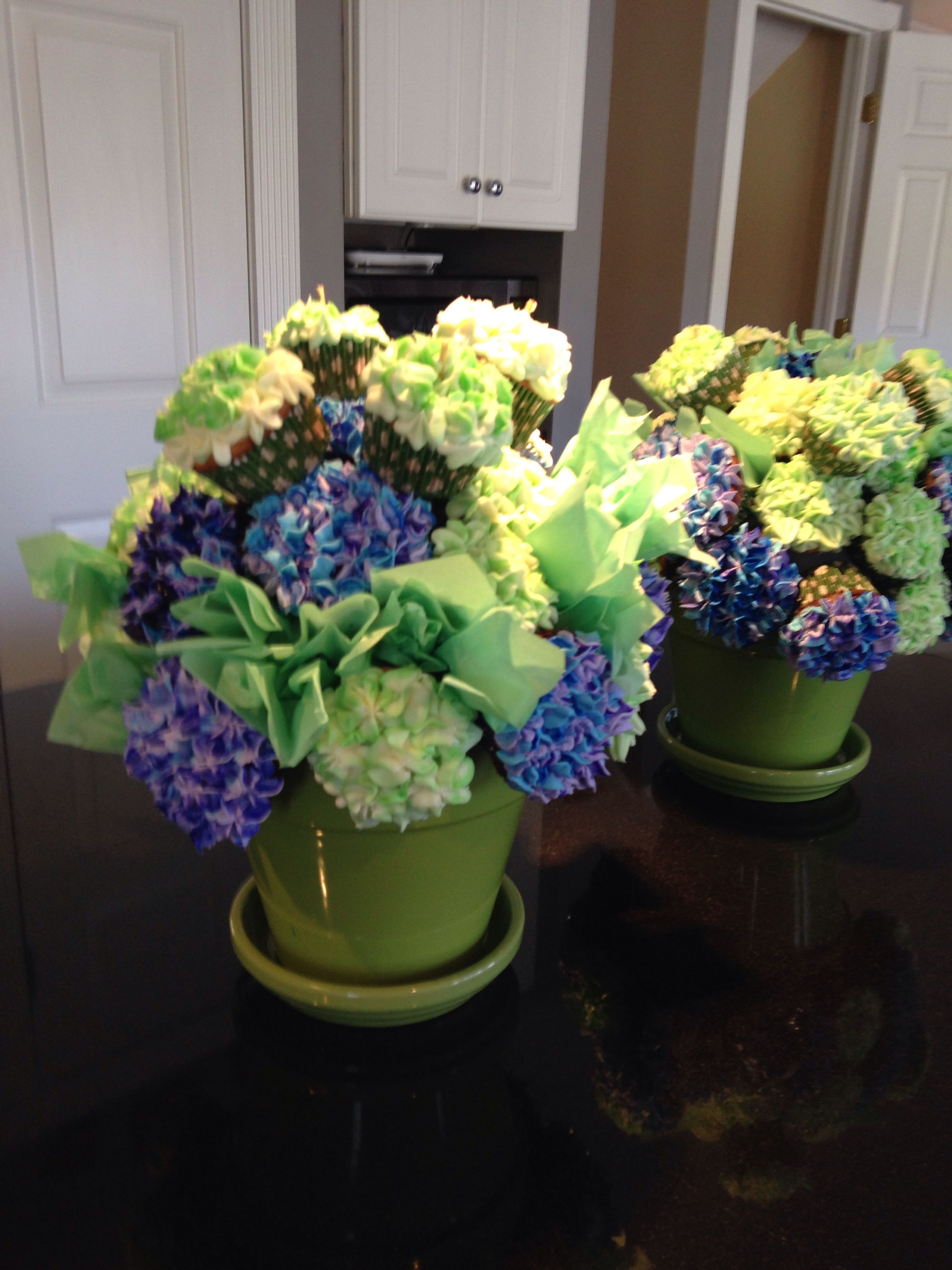 Hydrangea cupcake bouquet bouquets pinterest