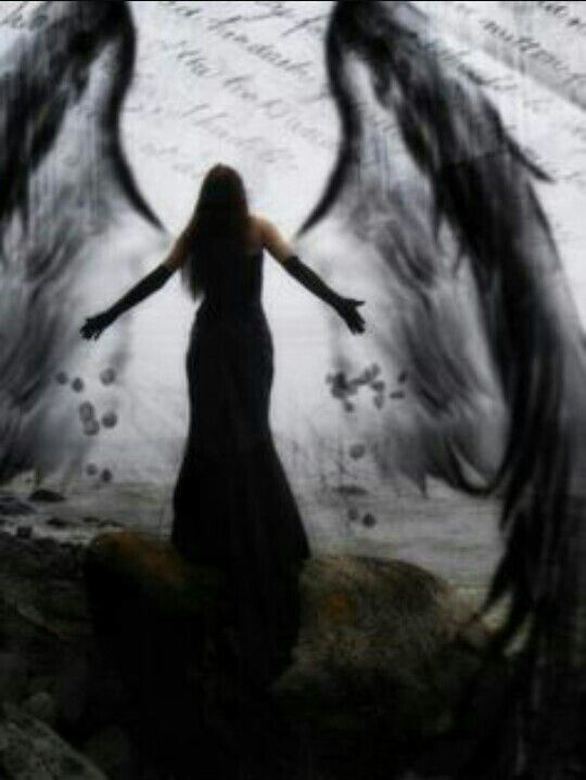 Image result for fallen angel silhouette