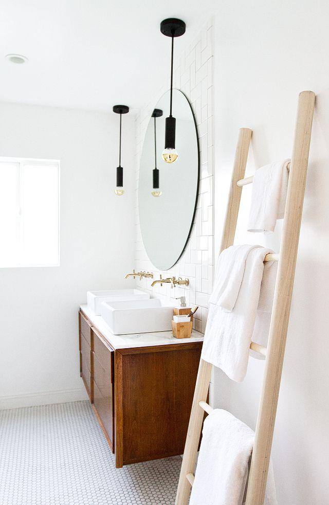 Bathroom Refresh Diy Towel Ladder In 48 Bath And Laundry Cool Bathroom Refresh Minimalist