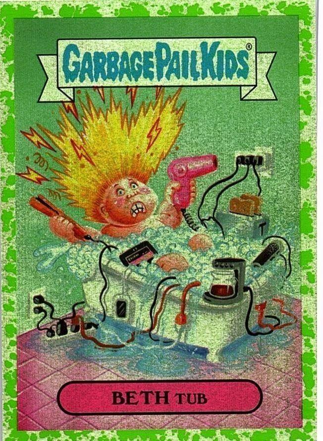 Beth Tub Garbage Pail Kids Cards Garbage Pail Kids Kids Stickers
