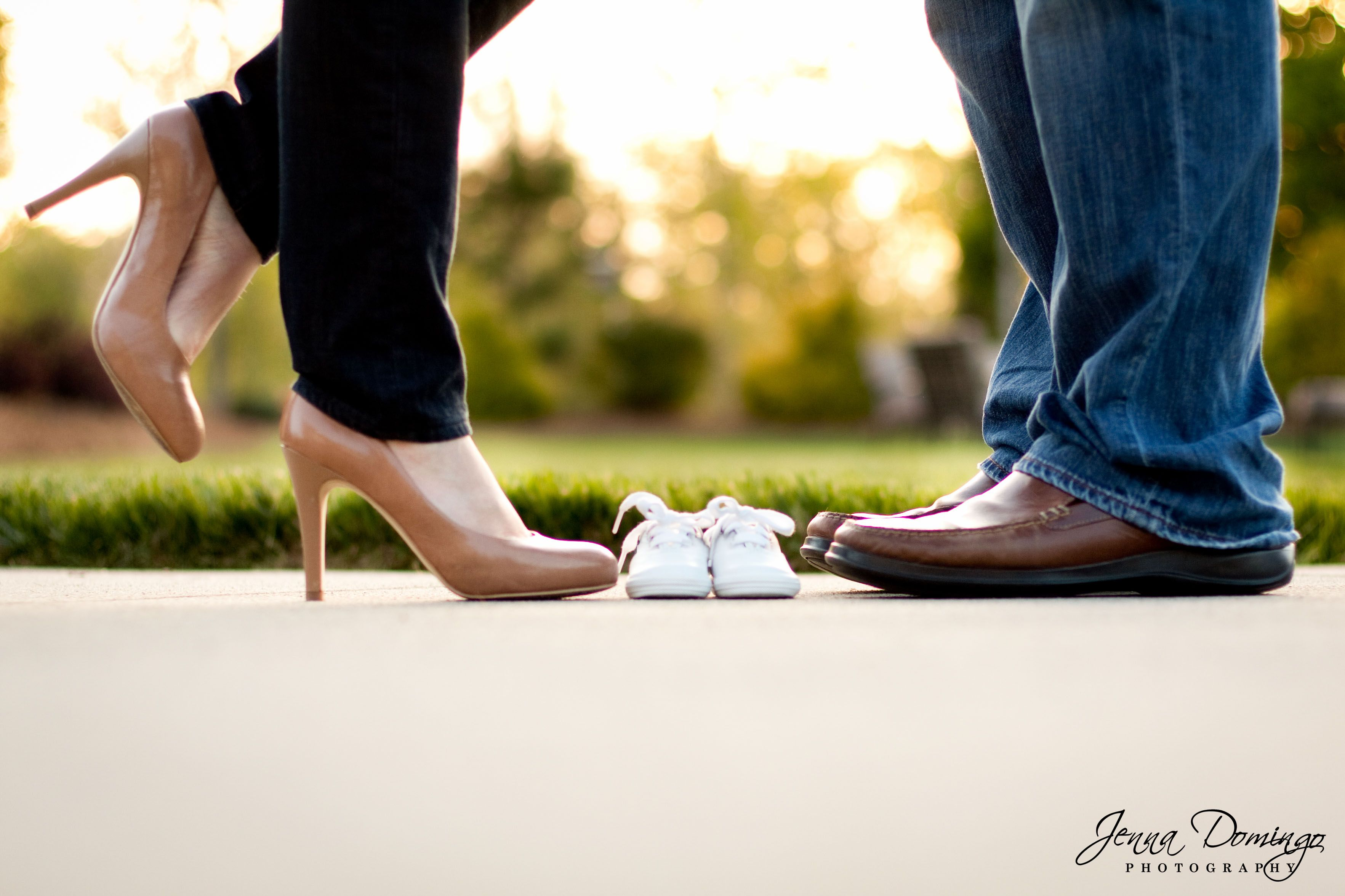 Baby Announcement - Our family is growing by 2 feet! Photo by Jenna Domingo Photography ((Winston-Salem, NC)
