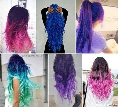 Many Different Hair Colors Styles Hair Styles Cool Hair Color Long Hair Styles