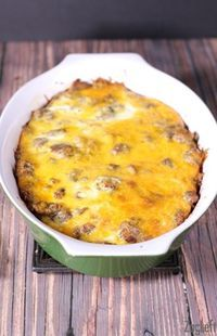 This Easy Breakfast Casserole made with sausage, cheese, eggs and Texas Toast comes together quickly. Refrigerate overnight and bake it the next morning for an easy, hassle free breakfast.  It's our holiday tradition!