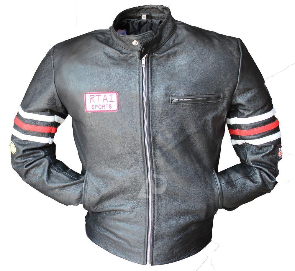 Spazeup Cafe Racer Jacket Vintage Motorcycle RetroMoto