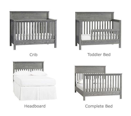 Charlie 4 In 1 Convertible Crib Cribs Convertible Crib Pottery Barn Crib