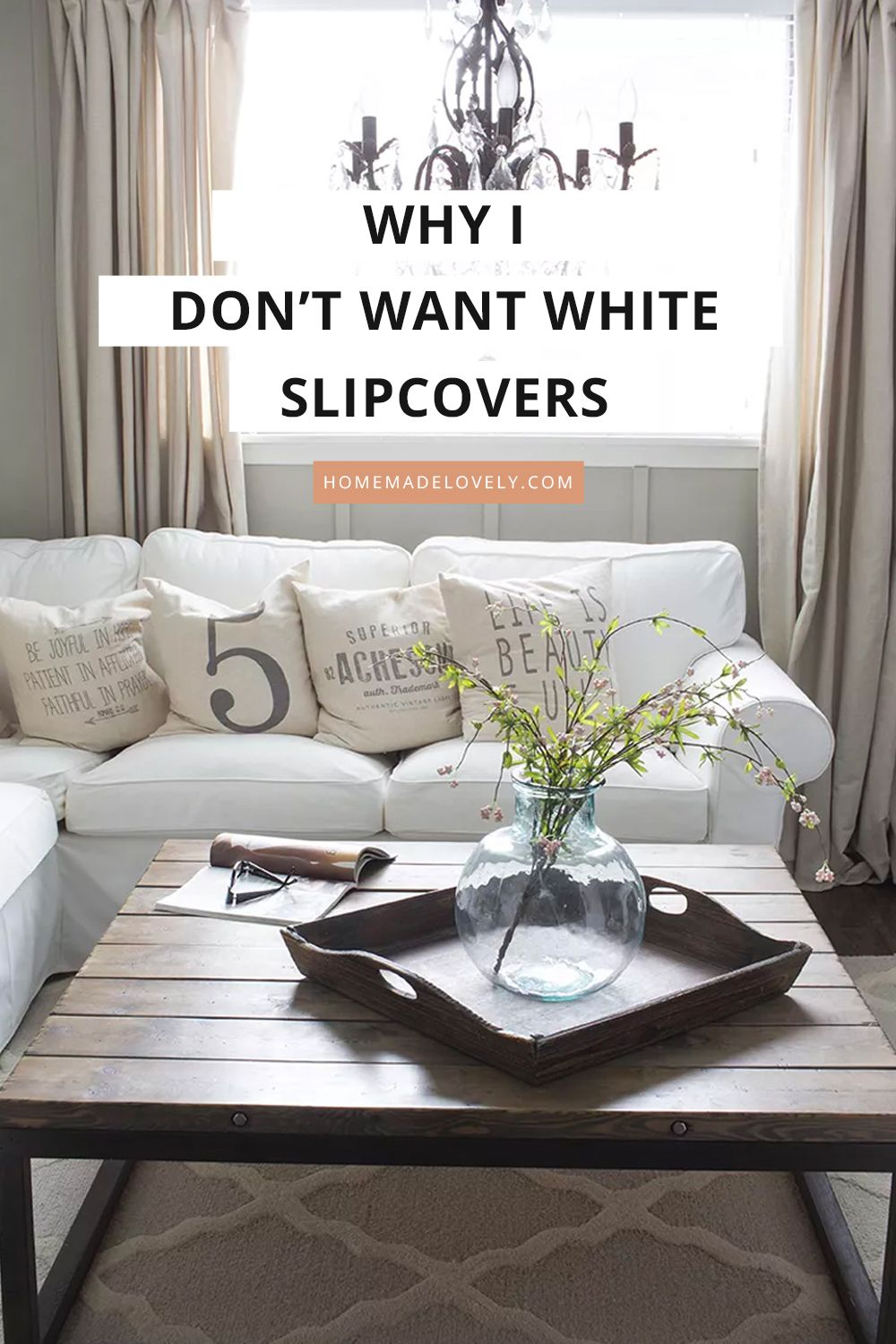 White Slipcovers Are Not Easy To Keep Clean In 2020 Coffee Table Diy Table Restoration Hardware Style