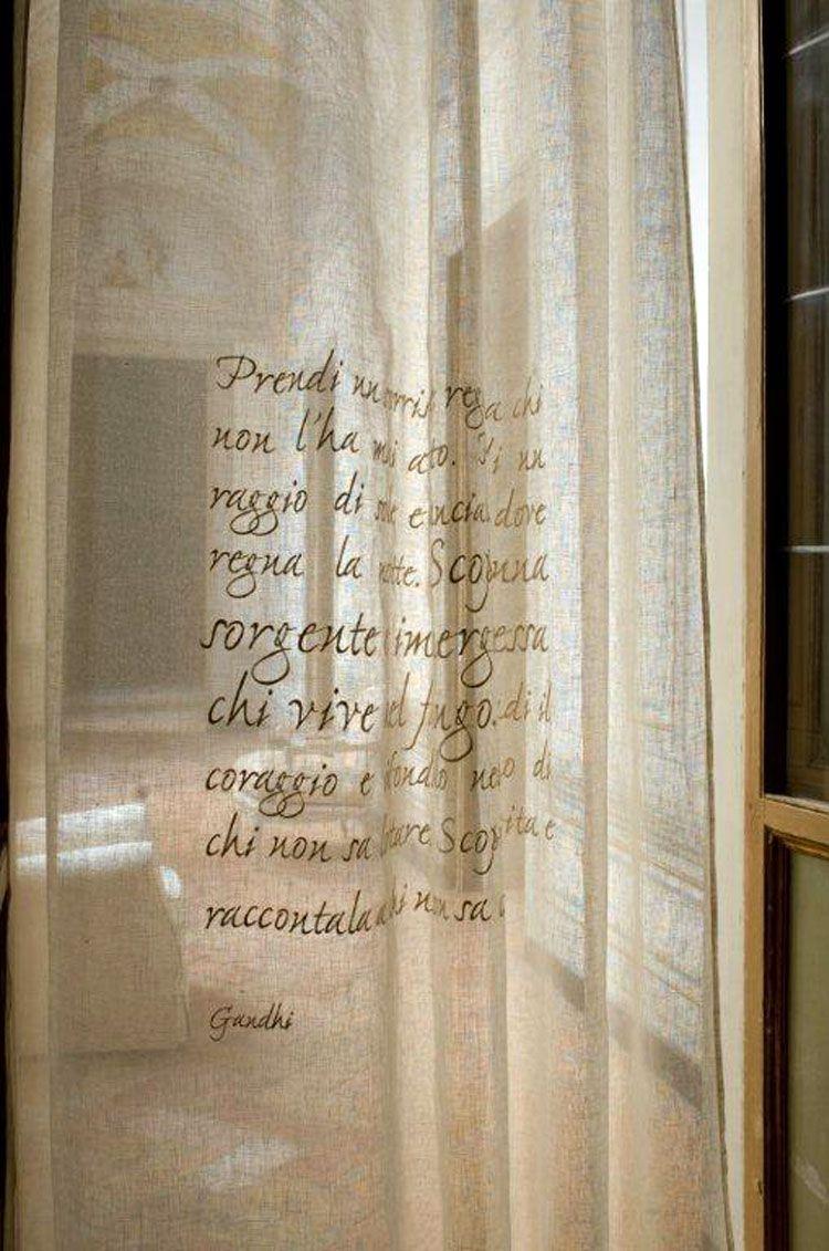 Tende calligrafiche di Mastro Raphael. #MastroRaphael #tende ...