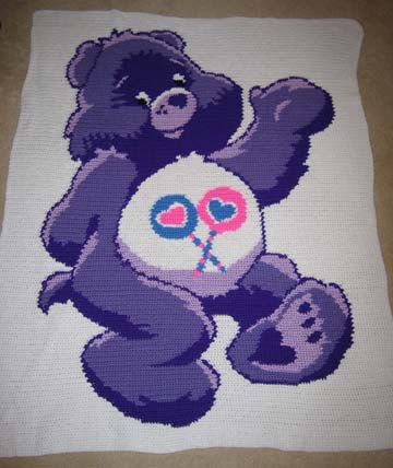 Care Bears Share Bear  Hand Made Crocheted by cuddleupcreations, $95.00