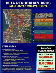 Ditlantas Polda Bali Ubah Jalur Lalin Menuju Bali Bebas Macet