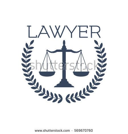 Advocate Or Lawyer Emblem Vector Icon For Legal Or Juridical Service Center With Symbol Of Scales Of Justice And Hera Vector Icons Business Card Design Lawyer