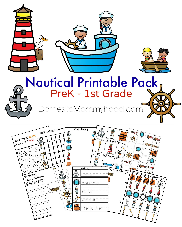 Nautical Printable Pack Prek