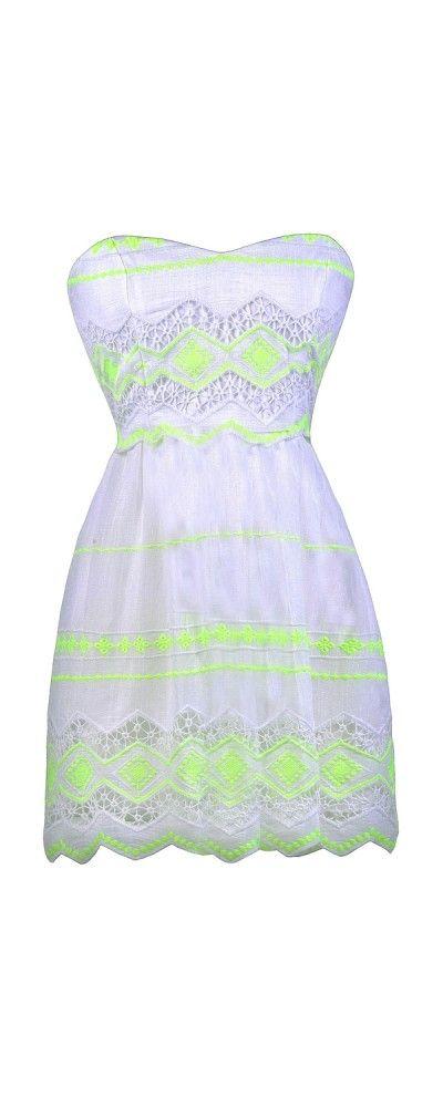ebbefdcaf07 Lily Boutique Lemon Lime Twist Embroidered Sundress