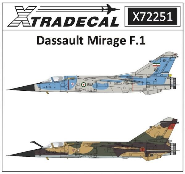 Xtradecal 1 72 scale mirage f 1 decal review by mark davies