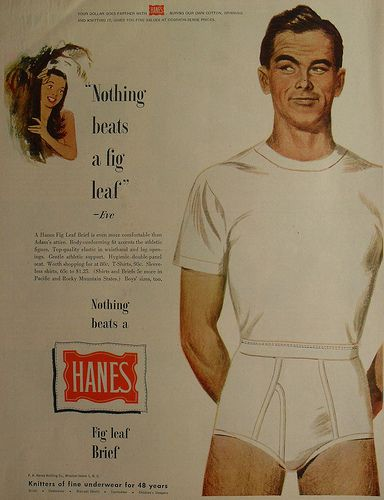 f7ece46fc69 1950s HANES Fig Leaf Briefs Men s Underwear Men Vintage Illustration ...