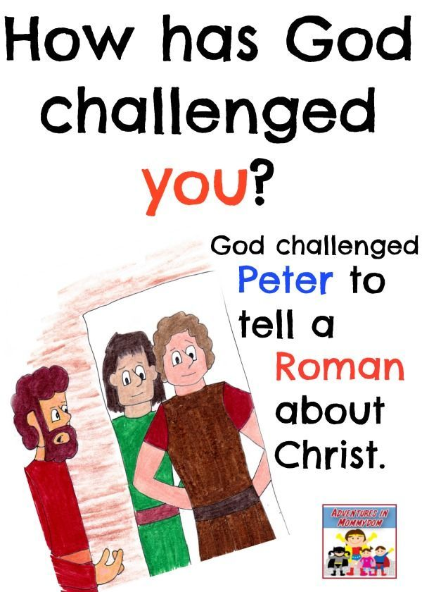 Peter And Cornelius Sunday School Lesson Bible Acts