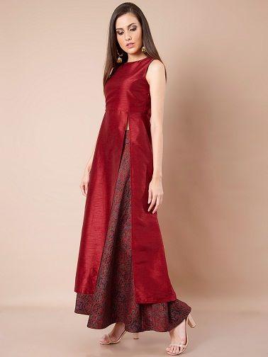15 Latest And Modern Silk Kurtis For Women