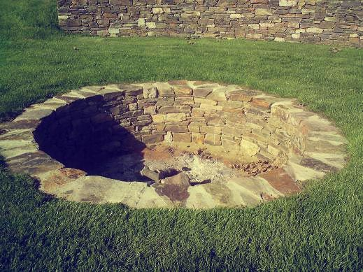Sunken Stone Fire Pit A Little Too Big But I Like The Look