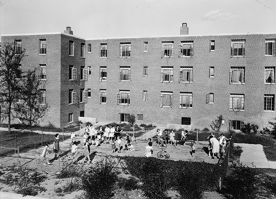 View Of Playground Behind Building X From West Facing East