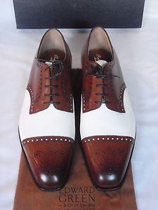 e90b32a030 New ralph lauren edward green cap toe spectator shoes uk 7.5   most ...