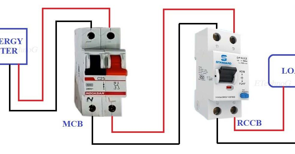 Today We Are Going To Know Proper Rccb Connection Diagram With Mcb Rccb Connection Diagram 2 Pole Rccb Connection Diagram In 2020 Diagram Circuit Diagram Connection