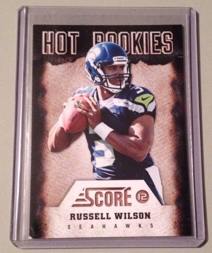 2012 Score Hot Rookies 22 Russell Wilson Rookie Card