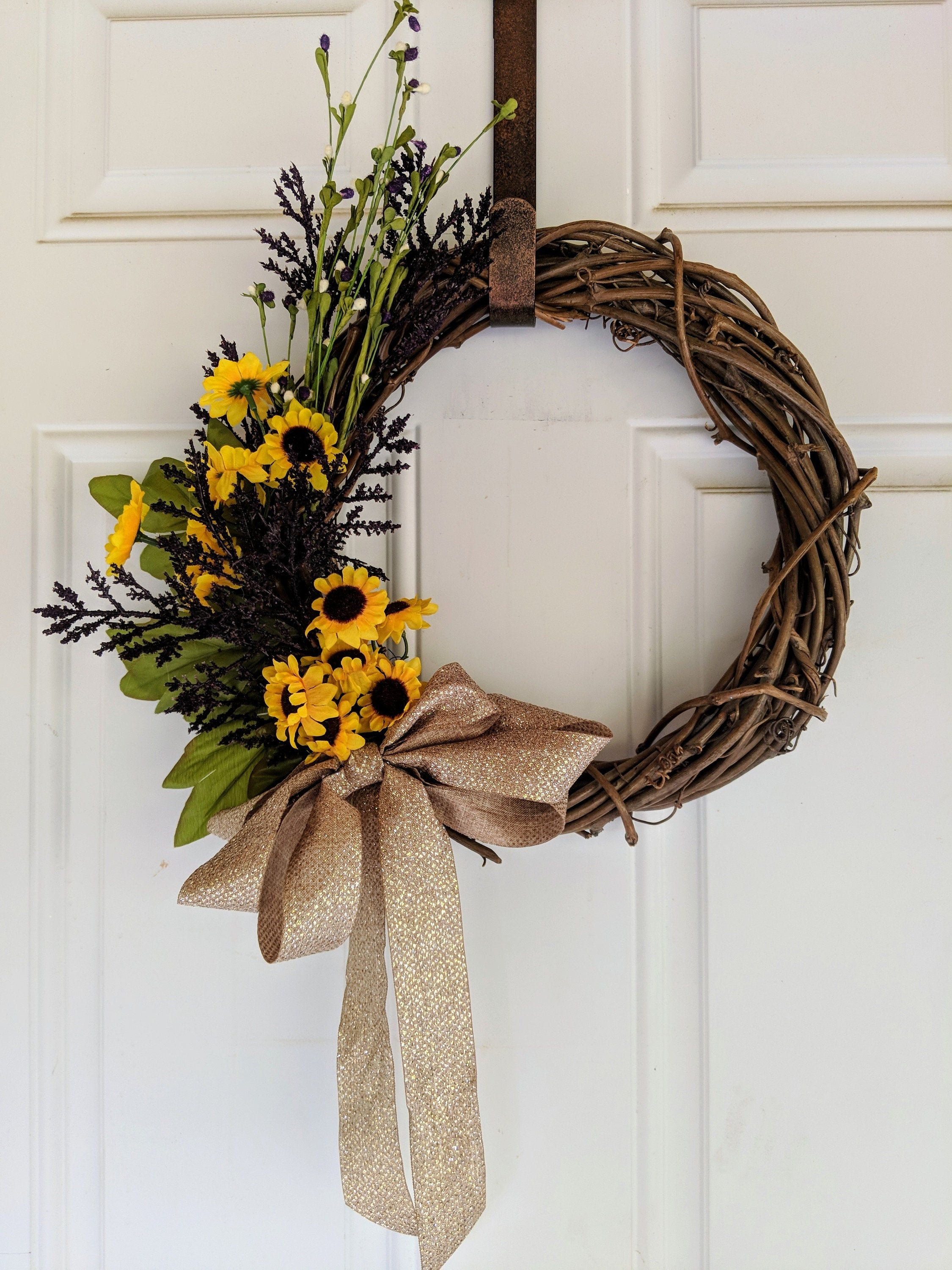Photo of Items similar to lavender and sunflower wreath on Etsy