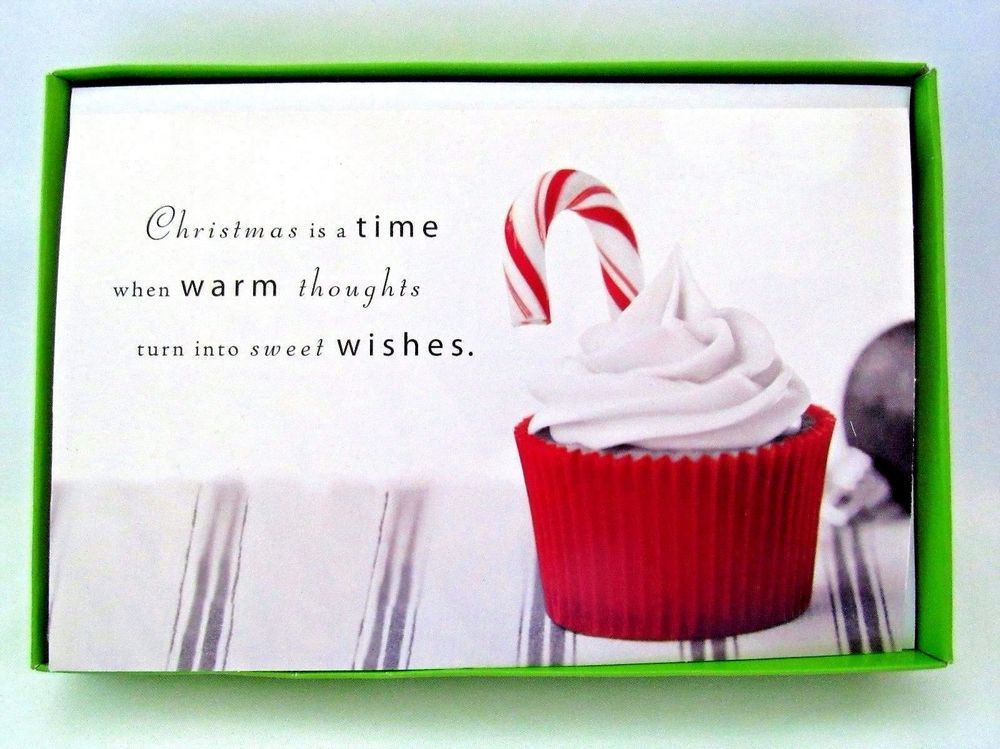 American Greetings Christmas Cards Boxed Cupcake Design 16 ct New ...