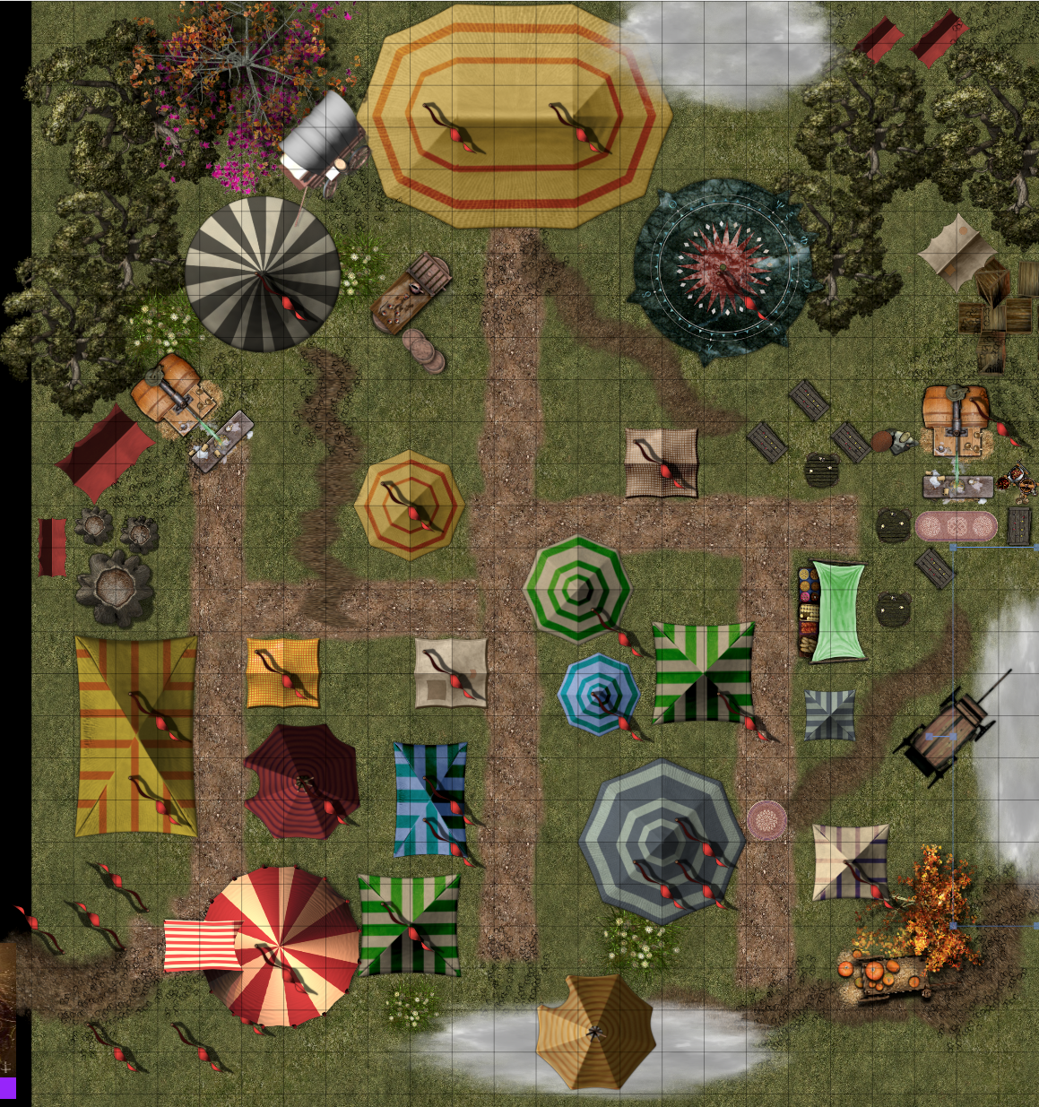 AmberDell Carnival - built in Roll20 #DnD #Roll20 #maps | DnD RPG