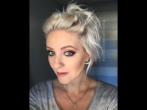 Easy short hairstyle - YouTube   Fixing short hair, Short hair styles easy, Short hair tutorial